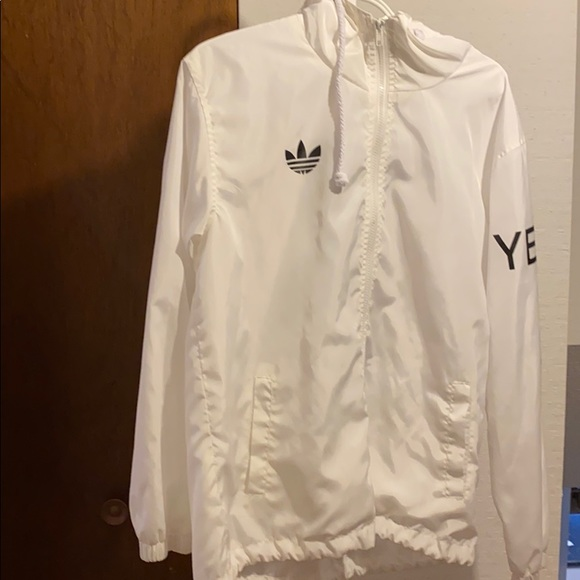 White Adidas Yeezy Windbreaker
